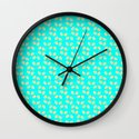 PATTERN FLOWERS Wall Clock