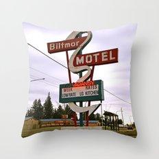 Biltmore Motel Throw Pillow