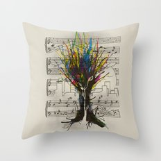 Ink Chords Throw Pillow