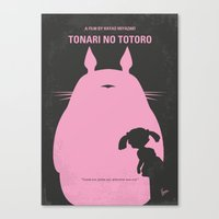 No290 My Neighbor Totor minimal movie poster Canvas Print