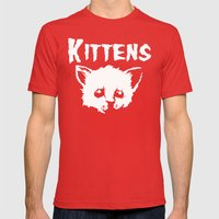 Goth Kittens Mens Fitted Tee Red SMALL