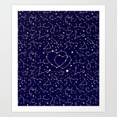 Star Lovers Art Print