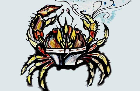 BEWARE :crabs in underwear  Art Print