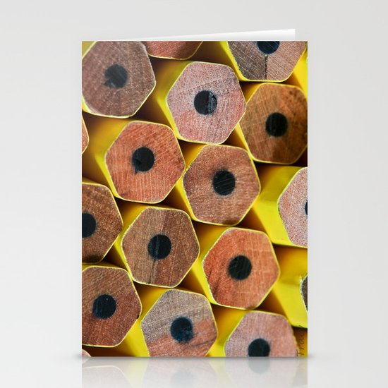 Pencil Tops Stationery Card