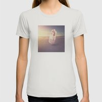 Crystal Playa Womens Fitted Tee Silver SMALL