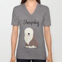 Sheepdog - Cute Dog Series Unisex V-Neck