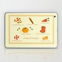 Colors: orange (Los colores: naranja) Laptop & iPad Skin