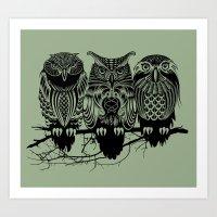 Owls Of The Nile Art Print