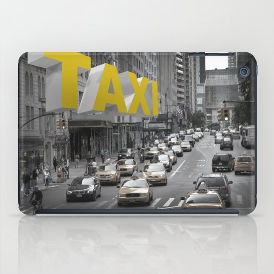 New York Taxi in the air iPad Case