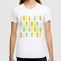 Pineapple Glow Womens Fitted Tee Ash Grey SMALL