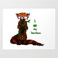 I Love My Bamboo (tablet… Art Print