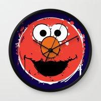 Elmo splatt Wall Clock