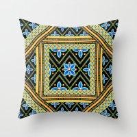 Elizabethan Folkloric Sq… Throw Pillow