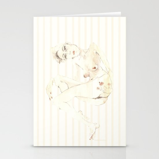 Nude 5 Stationery Card