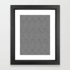 Triangles in Diamonds Framed Art Print