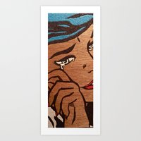 And With One Tear Art Print