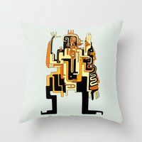 Dimensional Beings Throw Pillow