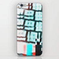 Glitchy keys iPhone & iPod Skin
