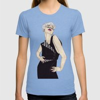 Penthouse & Pavements 1 Womens Fitted Tee Tri-Blue SMALL