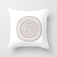 Mandala Smile A Throw Pillow