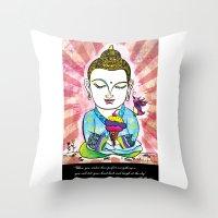 Buddha's Delight Throw Pillow