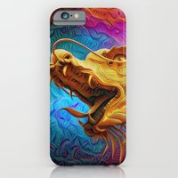 iPhone Cases featuring Trippy Dragon by Joke Vermeer