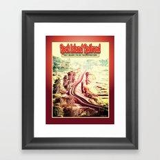 Rock Island Railroad Poster Framed Art Print