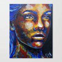 Speechless by carographic Canvas Print