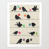 Birdsong Gosh By Rachel … Art Print