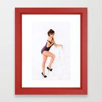 Pin-Up Girl Framed Art Print