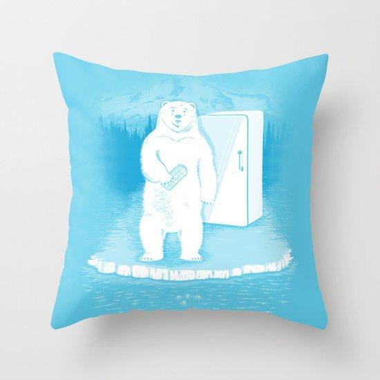 Save the polar bears, make more ice cubes. Throw Pillow