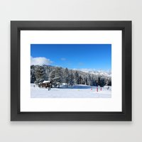Buttermilk Skiers   Framed Art Print