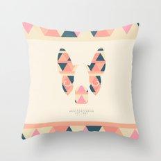 Boston Terrier: Triangles. Throw Pillow