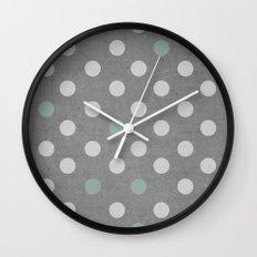 Concrete & PolkaDots Wall Clock