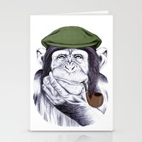 Wise Mr. Chimp Stationery Cards