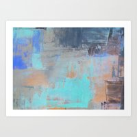 Painterly Blues Art Print