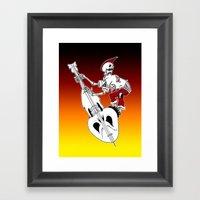 Psychobilly Bass Framed Art Print