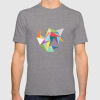 Abstract Triangles Mens Fitted Tee Tri-Grey SMALL