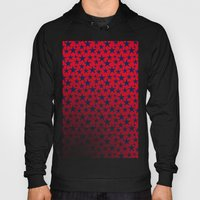 Blue stars on bold red background illustration. Hoody
