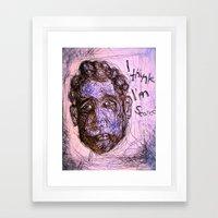 Scared Framed Art Print
