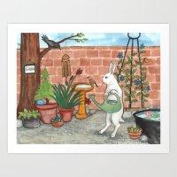 Rabbit's Garden Art Print