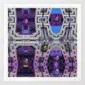 Cubistic 3-d Futuristic Town Art Print