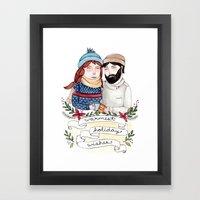 Warmest Holiday Wishes Framed Art Print