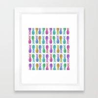Pastel Pineapples Framed Art Print
