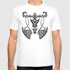 Libra White SMALL Mens Fitted Tee