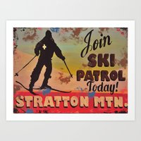 Join Ski Patrol, Stratto… Art Print