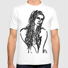 Roxanne White SMALL Mens Fitted Tee