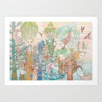 Forest Spirits Art Print