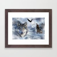 Wolves Framed Art Print