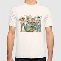 Gangsta Family Mens Fitted Tee Natural SMALL